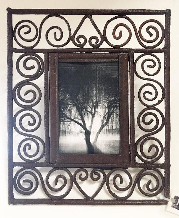 miroir en fer forgé