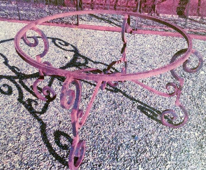 Pied de table en fer forgé