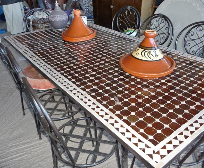 Table en mosaïque