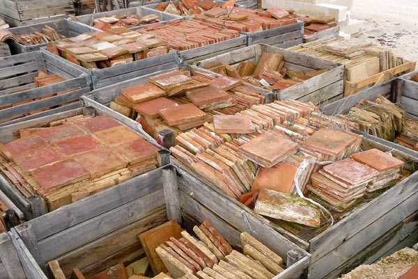 bh matériaux anciens tomettes anciennes